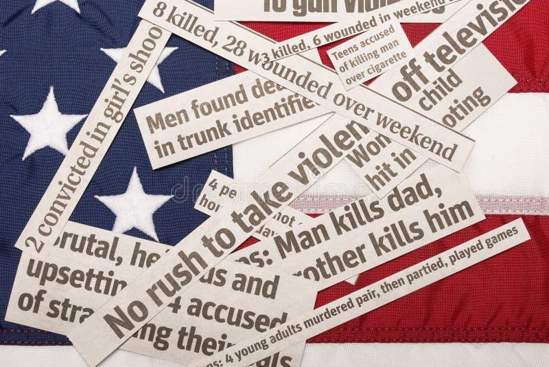 美国在暴力埋没了 库存图片