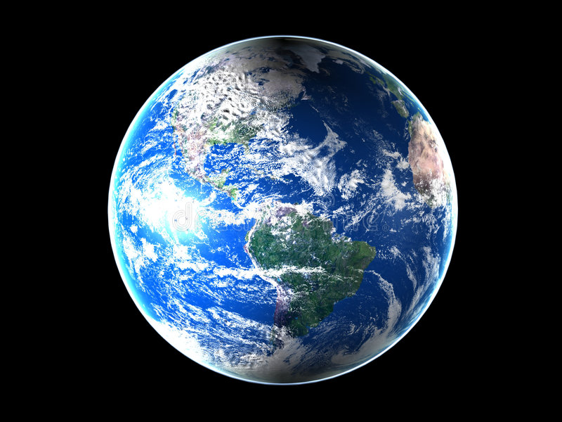 美国地球中间空间 库存例证