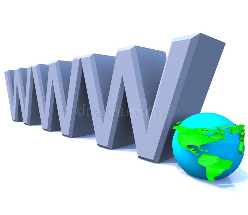 美国地球互联网万维网宽世界万维网 库存例证