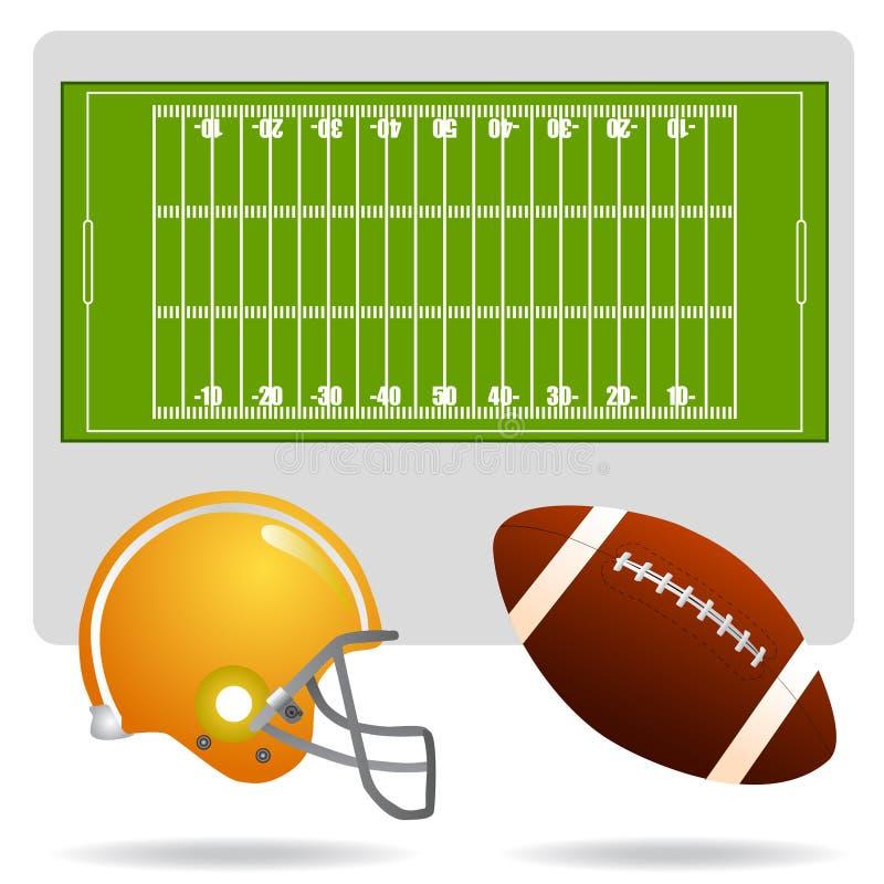 美国域橄榄球对象 向量例证