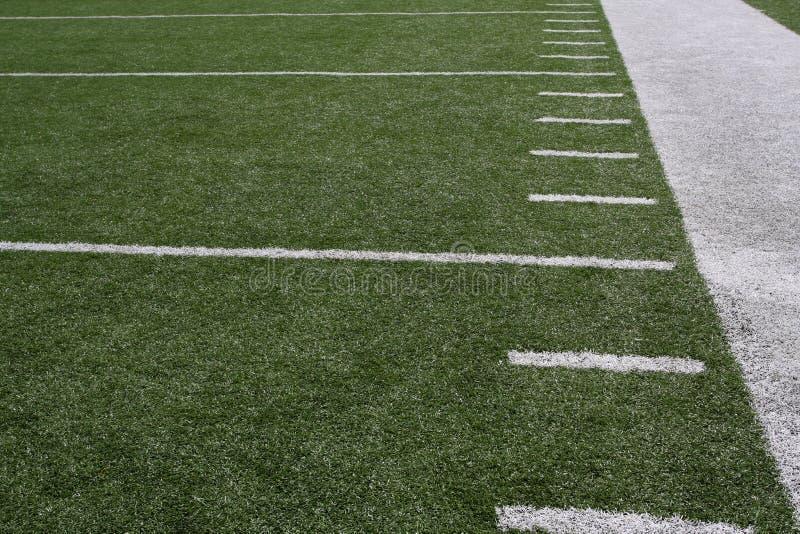 美国域橄榄球yardlines 免版税库存照片