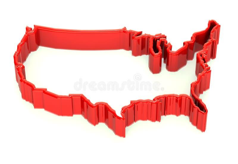美国墙壁边界 皇族释放例证