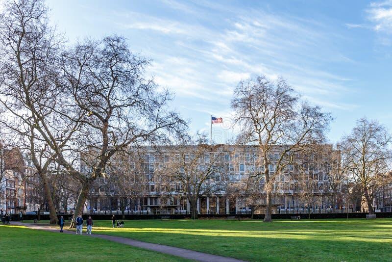 美国大使馆在伦敦 免版税库存图片