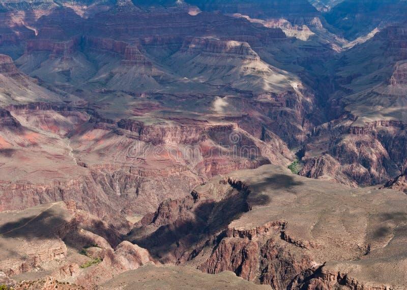 美国大峡谷美丽岩石峭壁的高角拍 库存图片