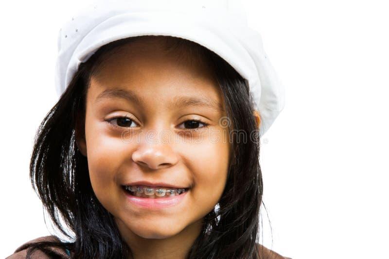 美国女孩拉丁微笑 免版税库存照片