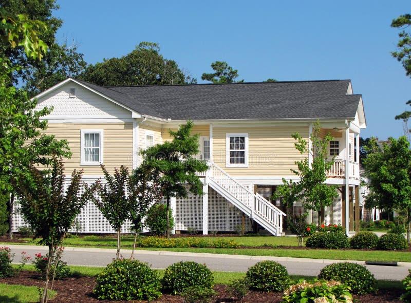 美国孤立的系列房子 免版税库存照片