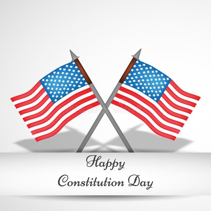 美国宪法天背景的例证 向量例证
