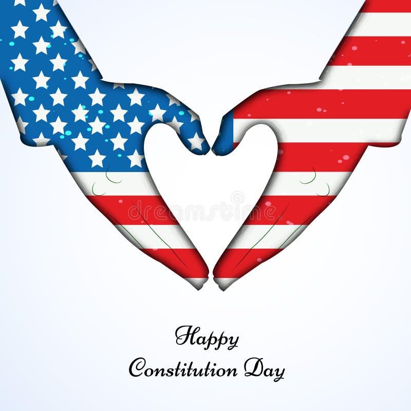 美国宪法天背景的例证 库存例证