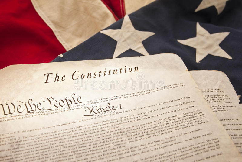 美国宪法 库存照片