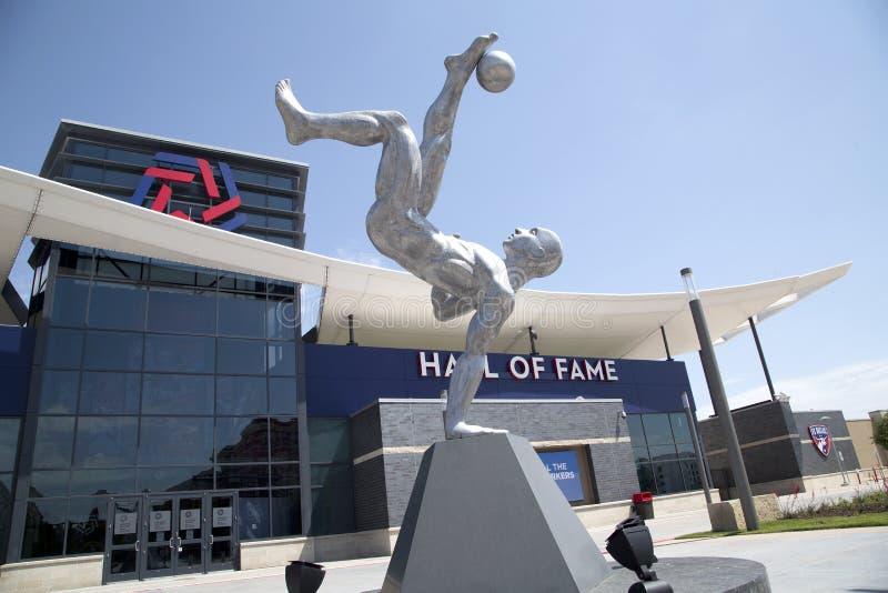 美国德克萨斯州弗里斯科市丰田足球中心现代建筑 库存图片