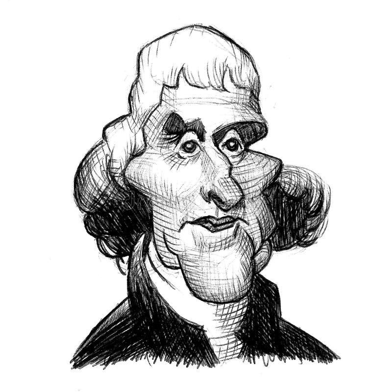 美国总统:乔治・华盛顿 库存例证