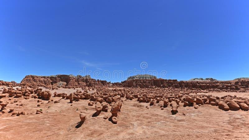 美国恶鬼自然始发地大草原红砂岩雕塑难以相信的谷 免版税图库摄影