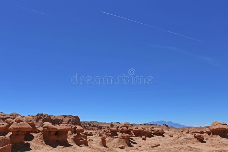 美国恶鬼自然始发地大草原红砂岩雕塑难以相信的谷 库存照片