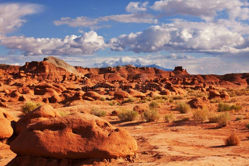 美国恶鬼自然始发地大草原红砂岩雕塑难以相信的谷 免版税库存图片