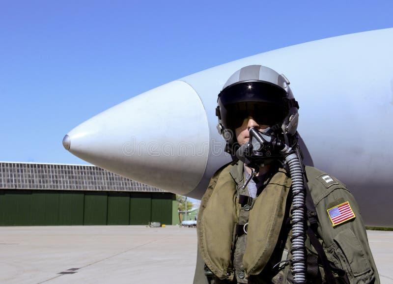 美国战斗机飞行员 图库摄影