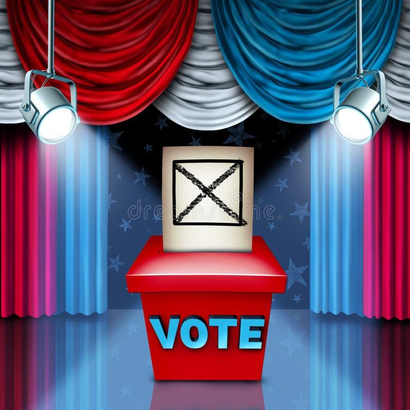 美国投票箱 皇族释放例证