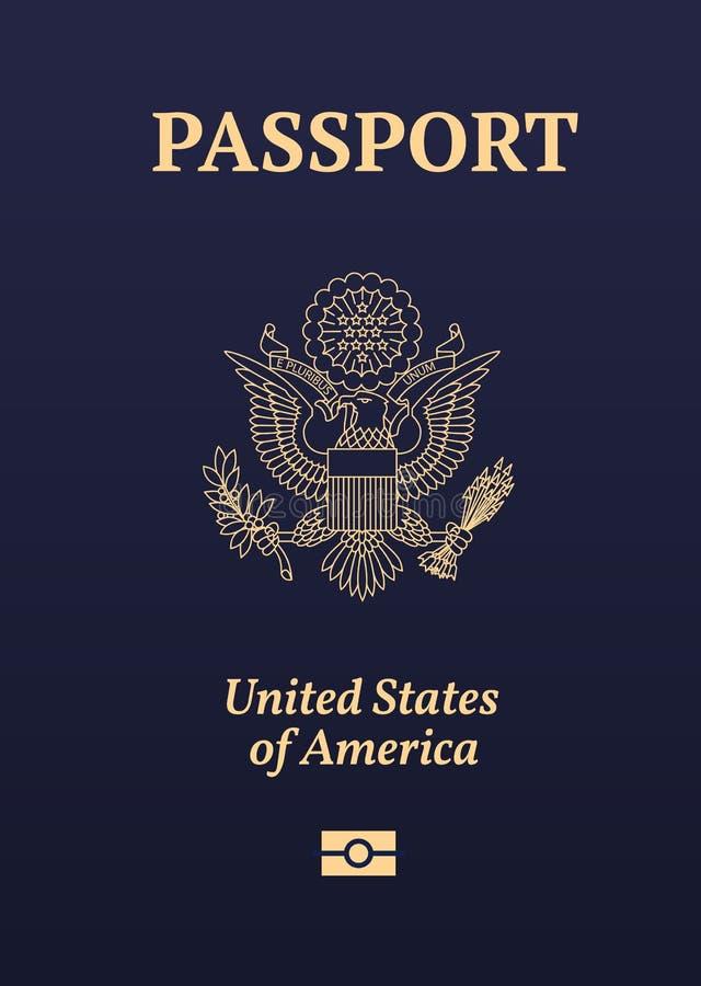 美国护照封印 皇族释放例证