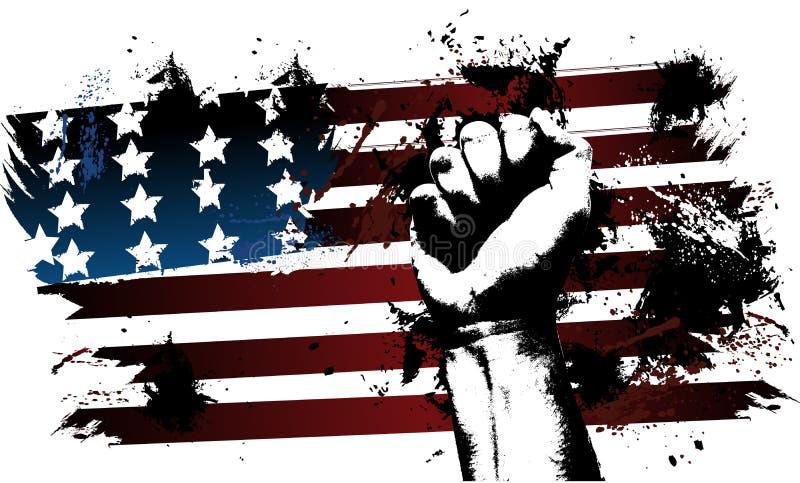 美国拳头 向量例证