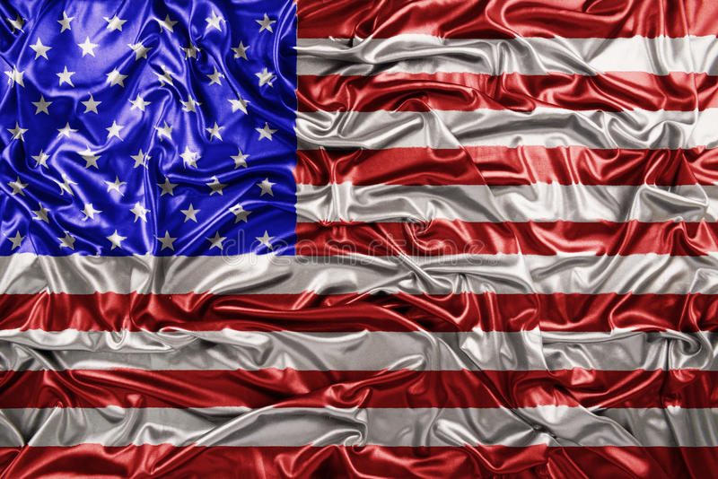 美国挥动的旗子背景 免版税图库摄影