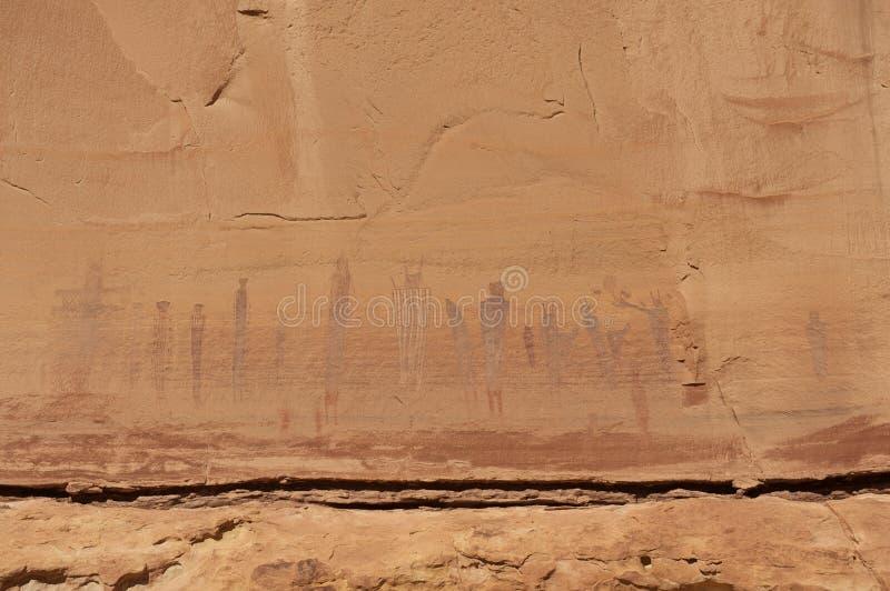 美国收获当地绘画岩石场面 免版税库存照片