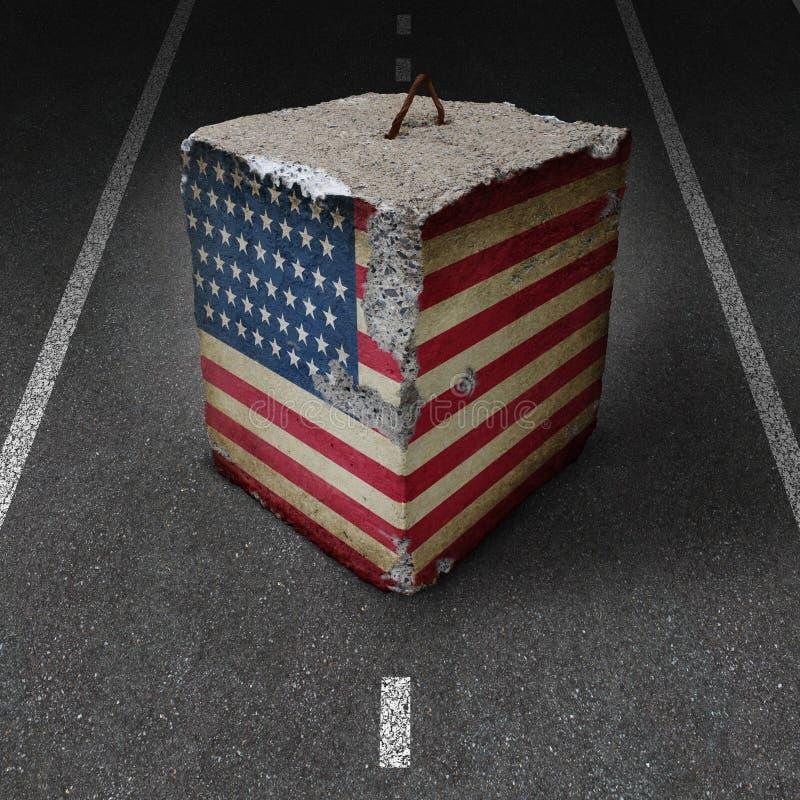 美国政府停工 向量例证