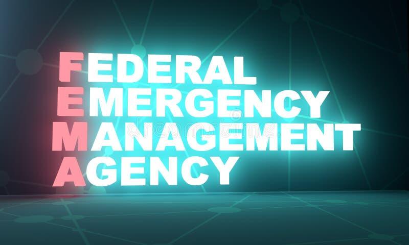 美国政府概念首字母缩略词 向量例证
