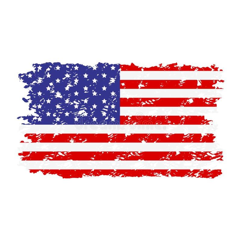 美国旗子纹理不加考虑表赞同的人 库存例证