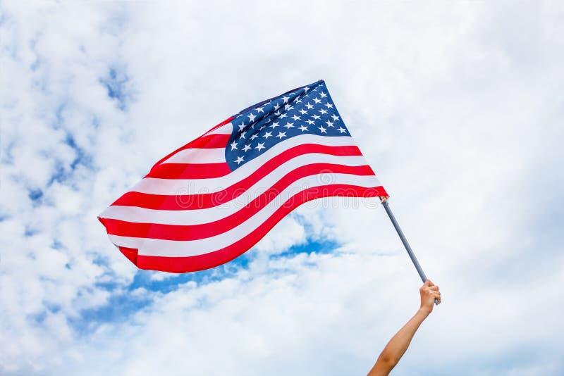美国旗子背景,美国独立日, 7月四日标志 库存图片