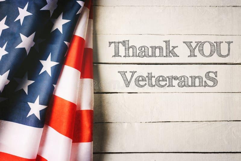美国旗子退伍军人日概念 免版税库存图片