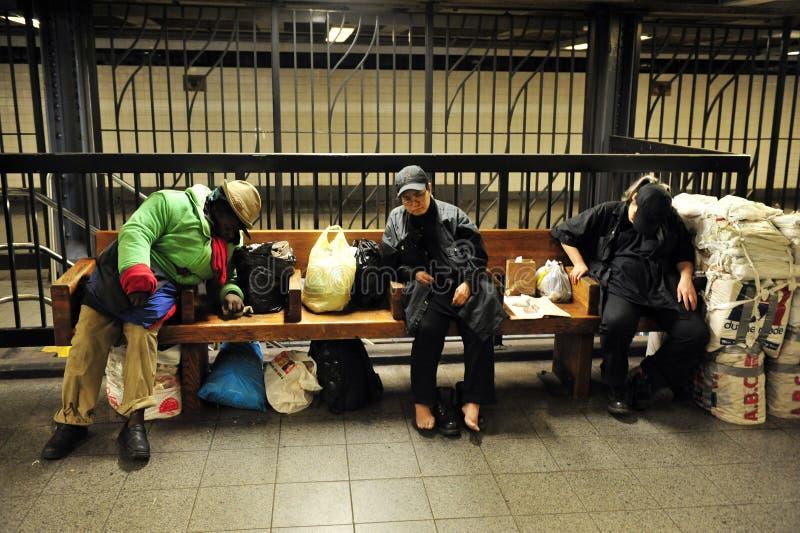 美国无家可归者 免版税图库摄影