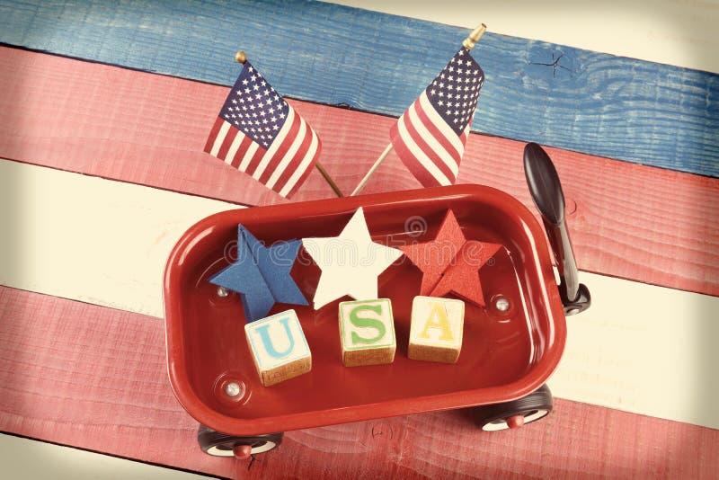 美国无盖货车 免版税图库摄影