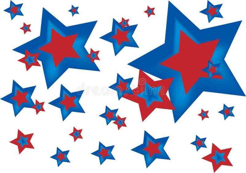 美国星形 皇族释放例证
