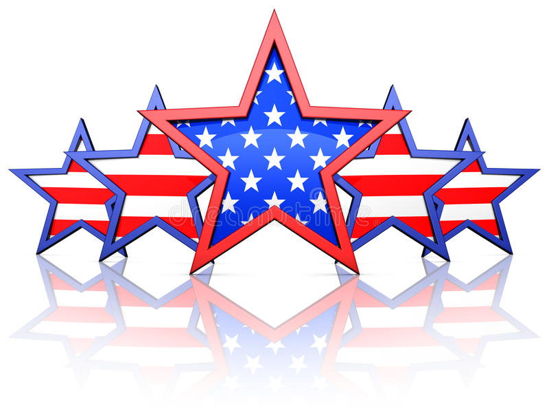 美国星形 库存照片