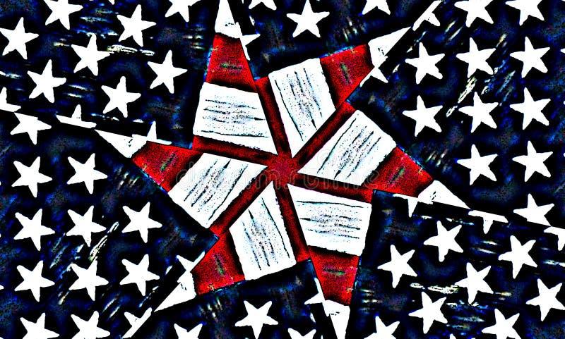 美国星条旗背景 库存图片