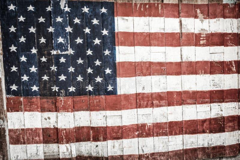 美国木旗子概念7月4日国庆节纪念品铈 库存图片