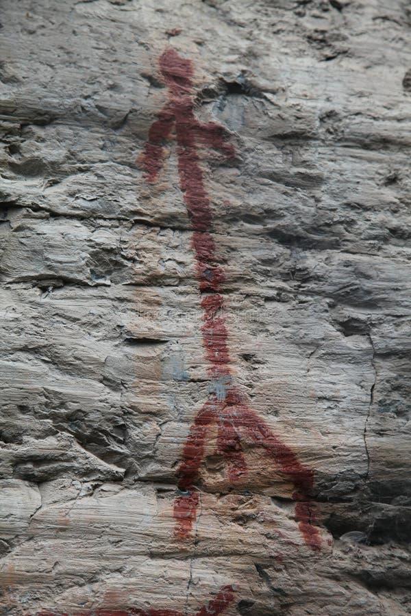 美国本地人古老岩石艺术 图库摄影