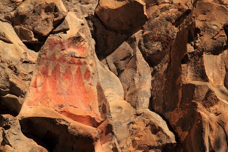 美国本地人岩石艺术 库存图片
