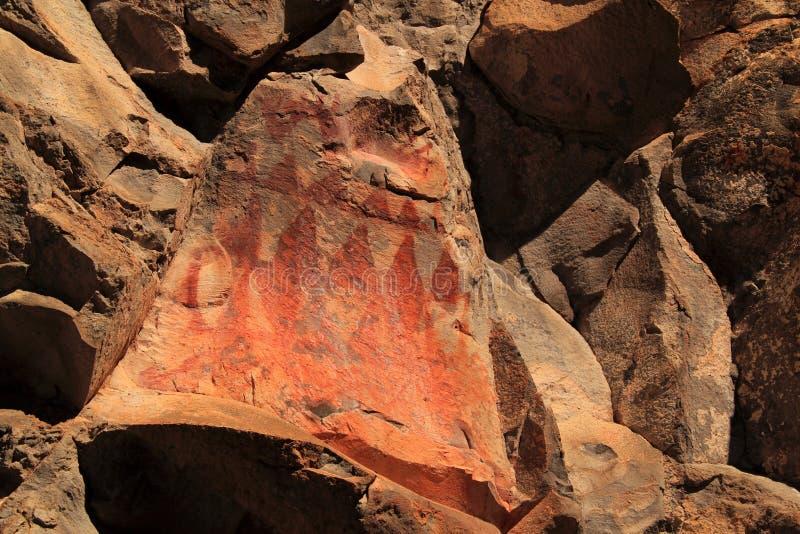 美国本地人岩石艺术 库存照片