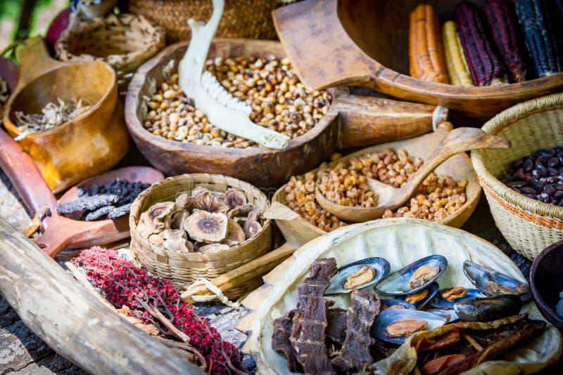 美国本地人食品批发市场 免版税库存图片