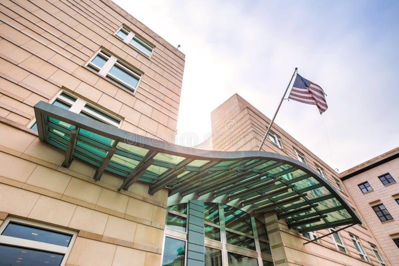 美国柏林德国的使馆 图库摄影
