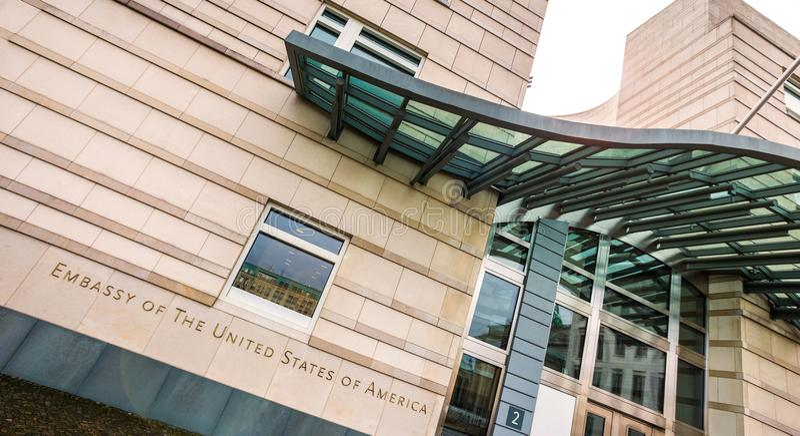 美国柏林德国的使馆 库存图片