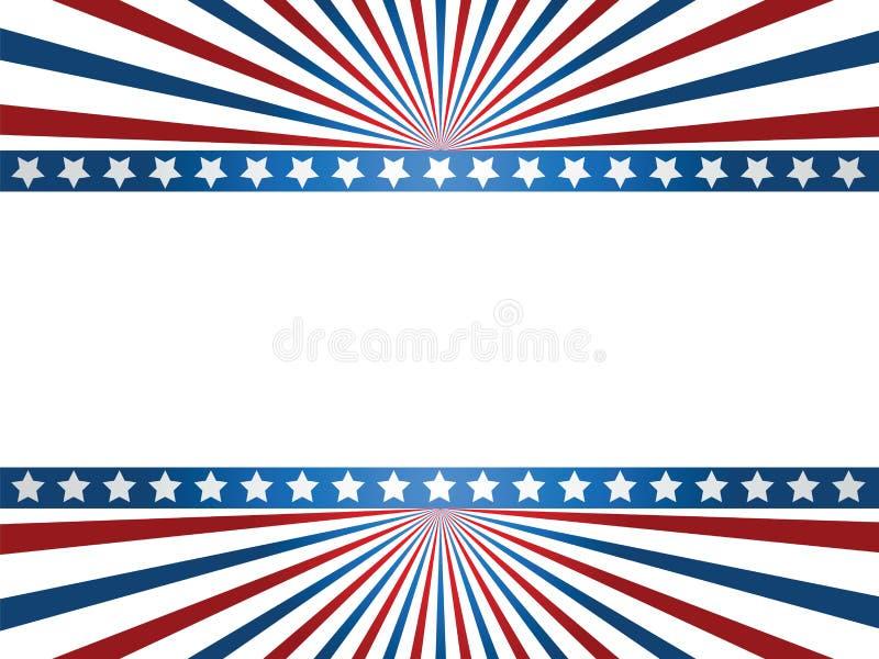美国标志背景 皇族释放例证