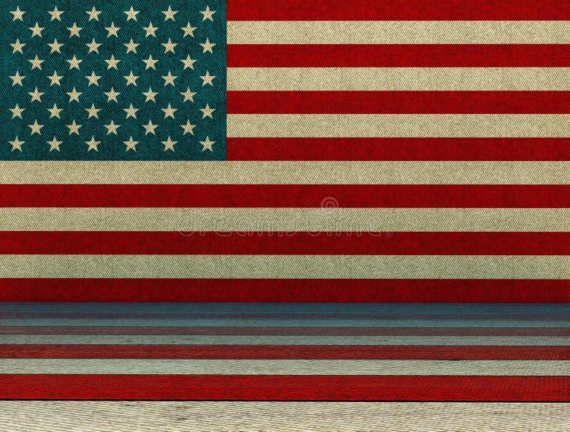 美国样式背景 皇族释放例证