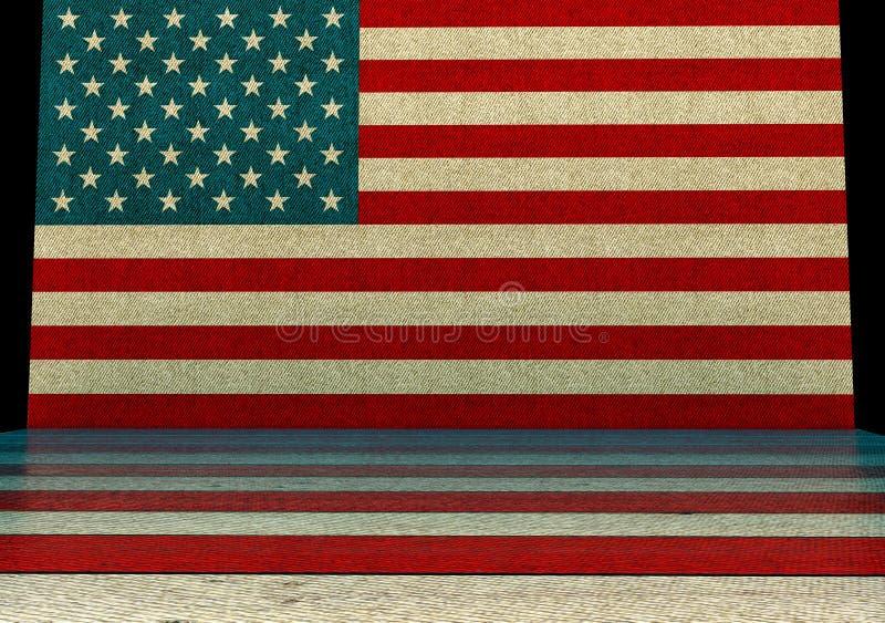 美国样式背景 向量例证