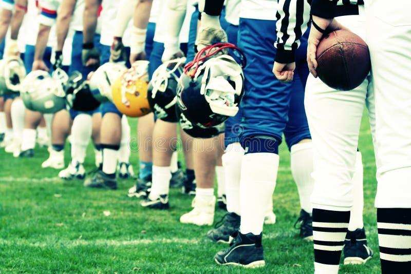 美国概念橄榄球队 库存照片