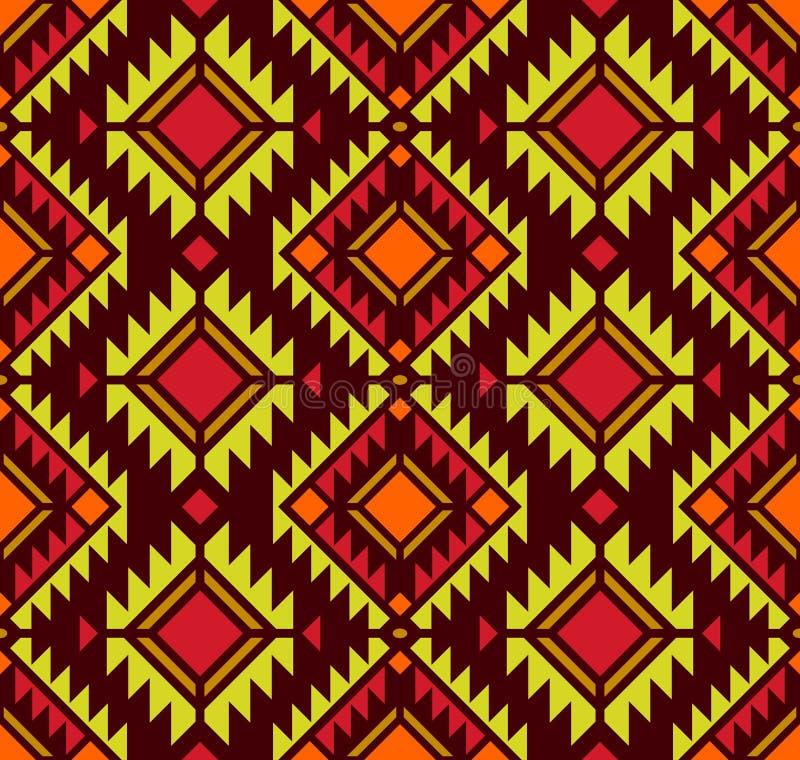 美国模式 无缝几何的装饰品 库存例证