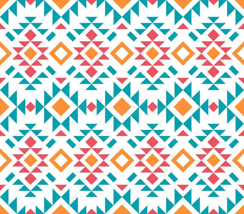 美国模式 无缝几何的装饰品 皇族释放例证