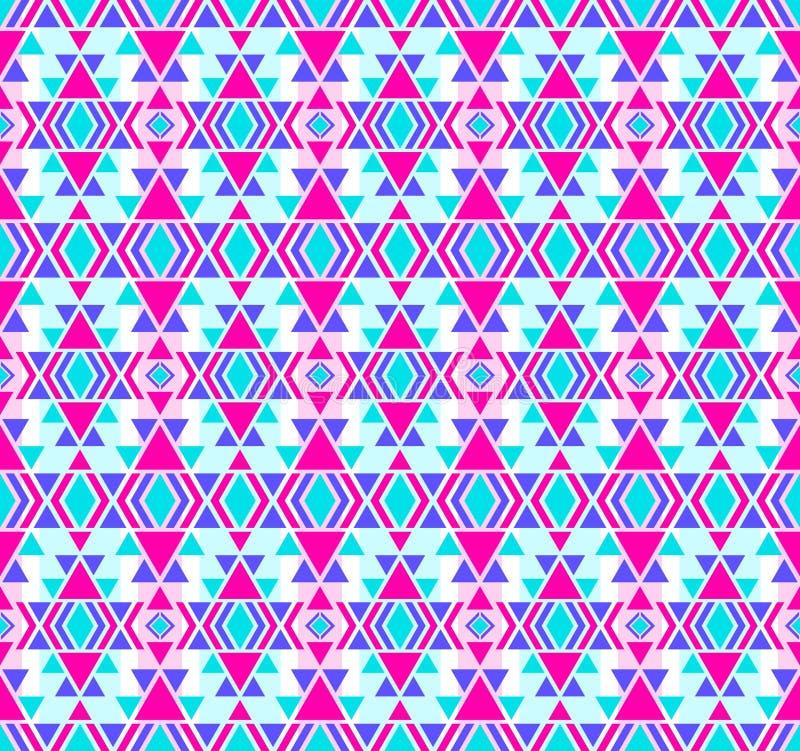 美国模式 无缝几何的装饰品 向量例证