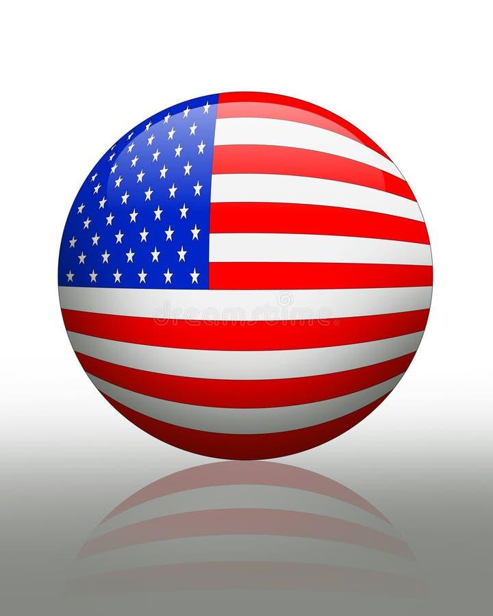 美国横幅按钮标志 皇族释放例证