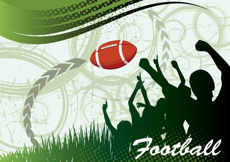 美国横幅橄榄球 向量例证